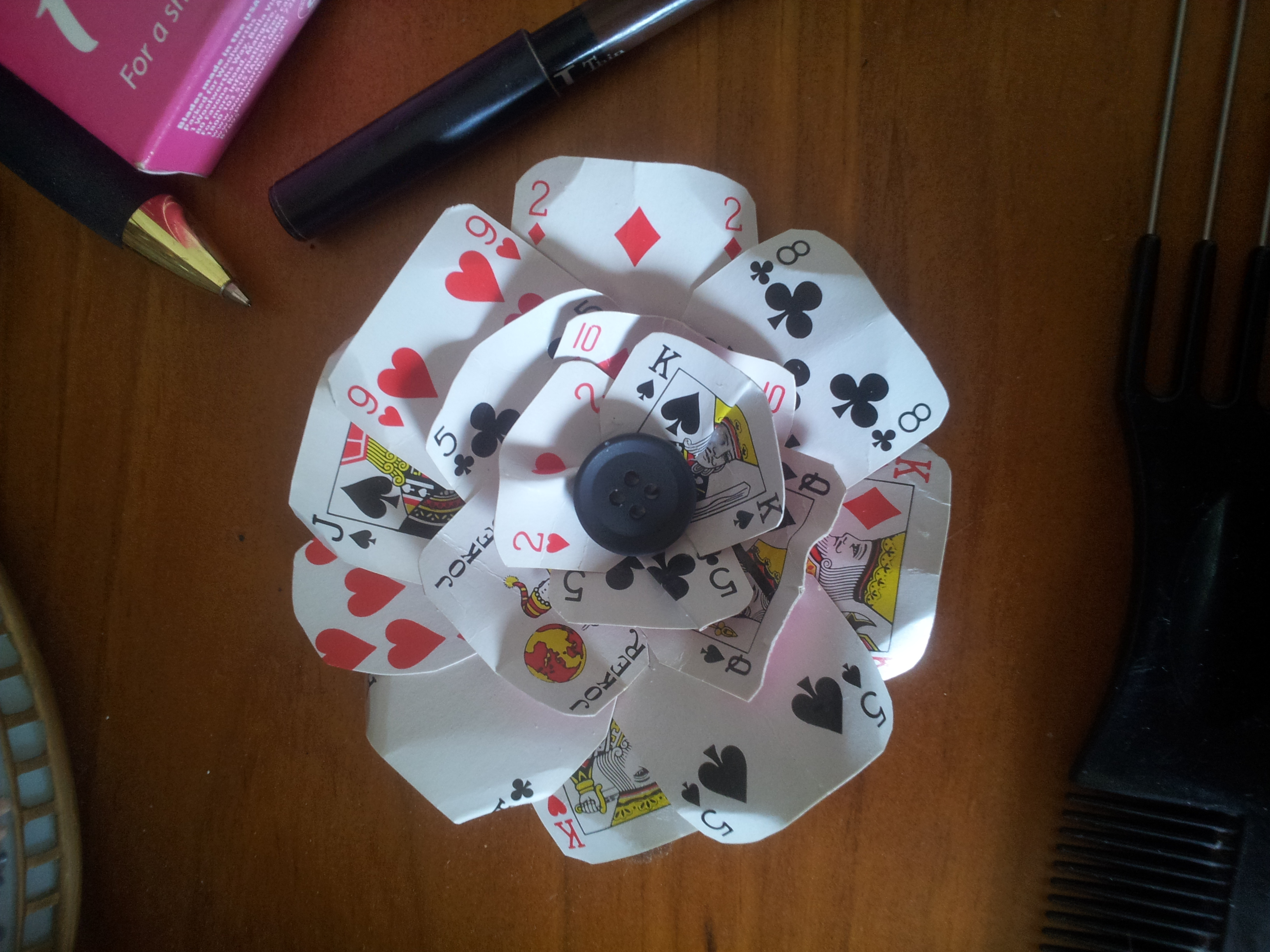 Best Playing Card Flower Decoration This Month