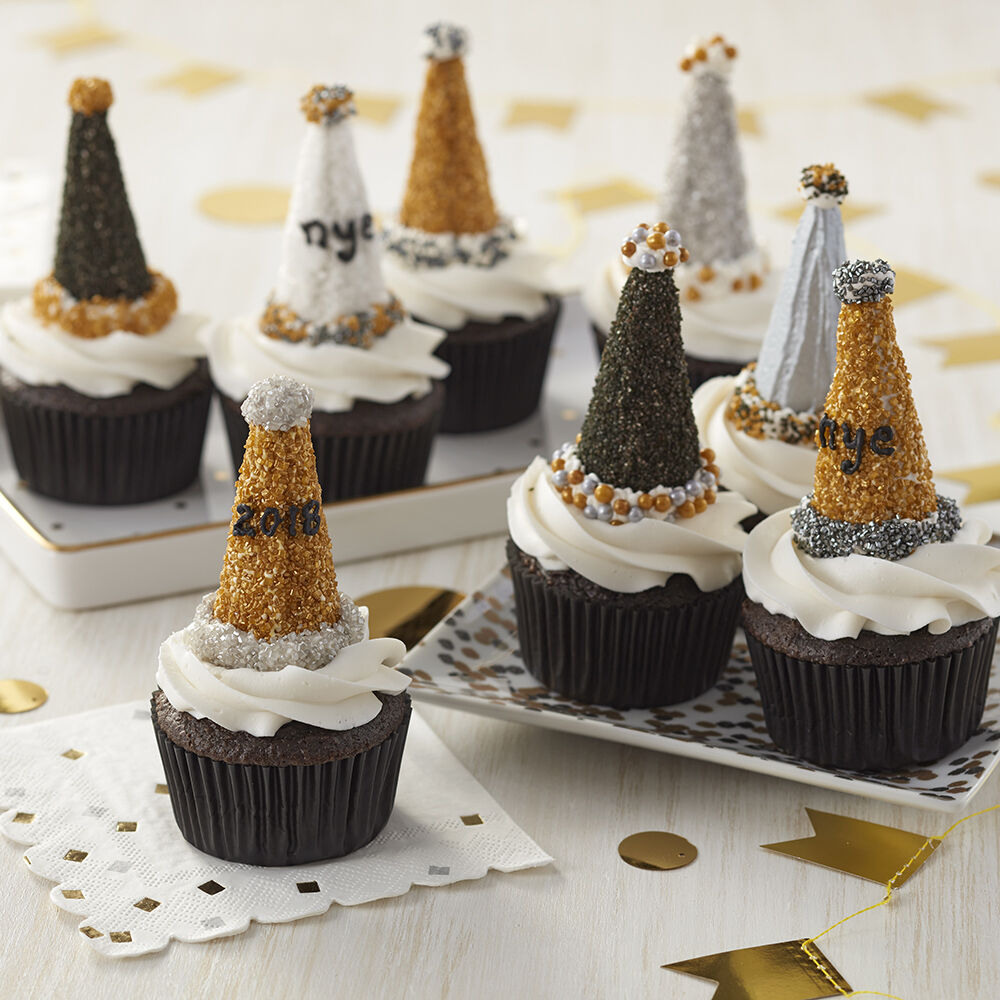 Best New Year's Eve Party Hat Cupcakes Wilton This Month
