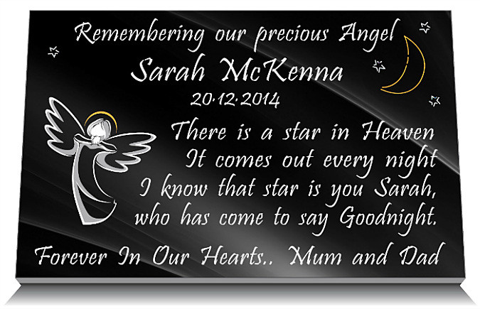 Best Baby Memorial Plaque Wording Ideas Personalized Funeral This Month