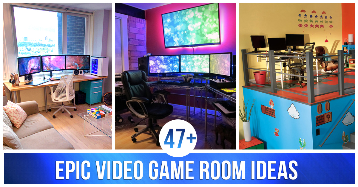 Best 47 Epic Video Game Room Decoration Ideas For 2019 This Month