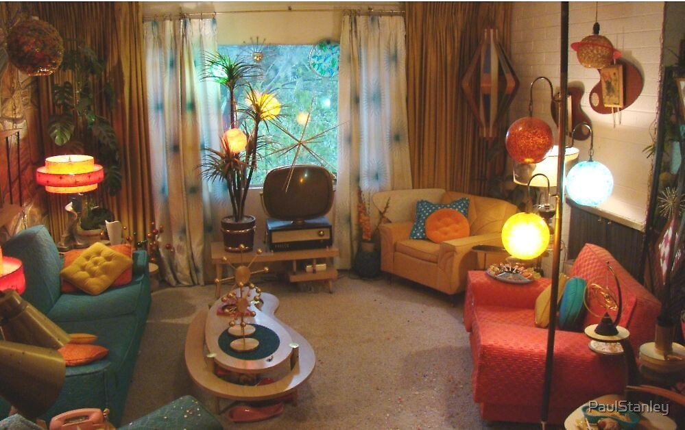 Best My 1950 S Living Room By Paulstanley Redbubble This Month
