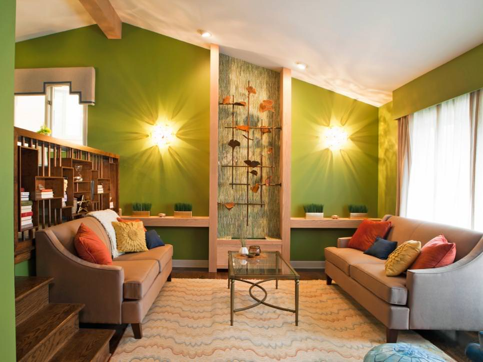 Best 23 Green Wall Designs Decor Ideas For Living Room This Month