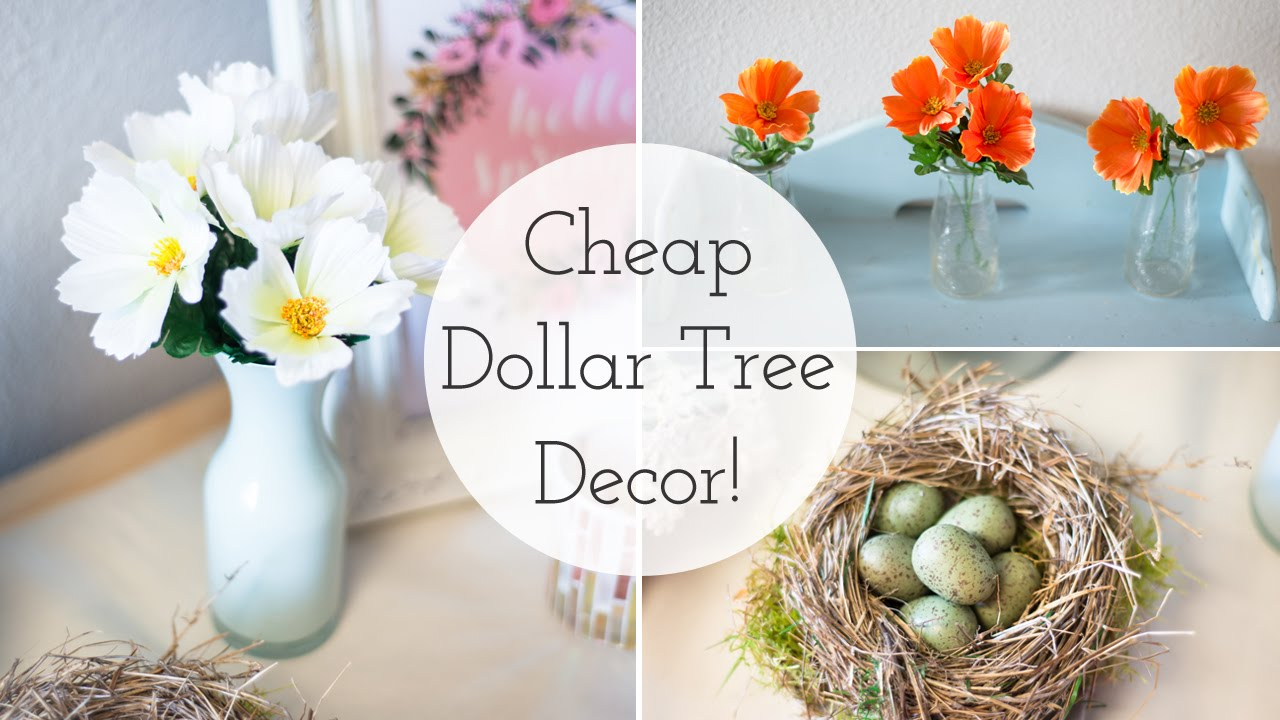 Best Spring Decor 2016 Cheap Dollar Tree Diy Ideas Youtube This Month