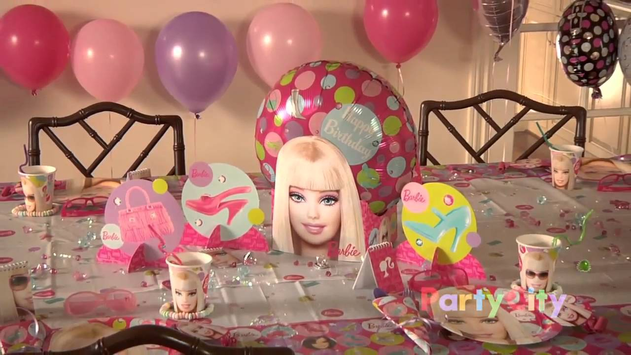 Best Barbie Birthday Party Ideas Youtube This Month