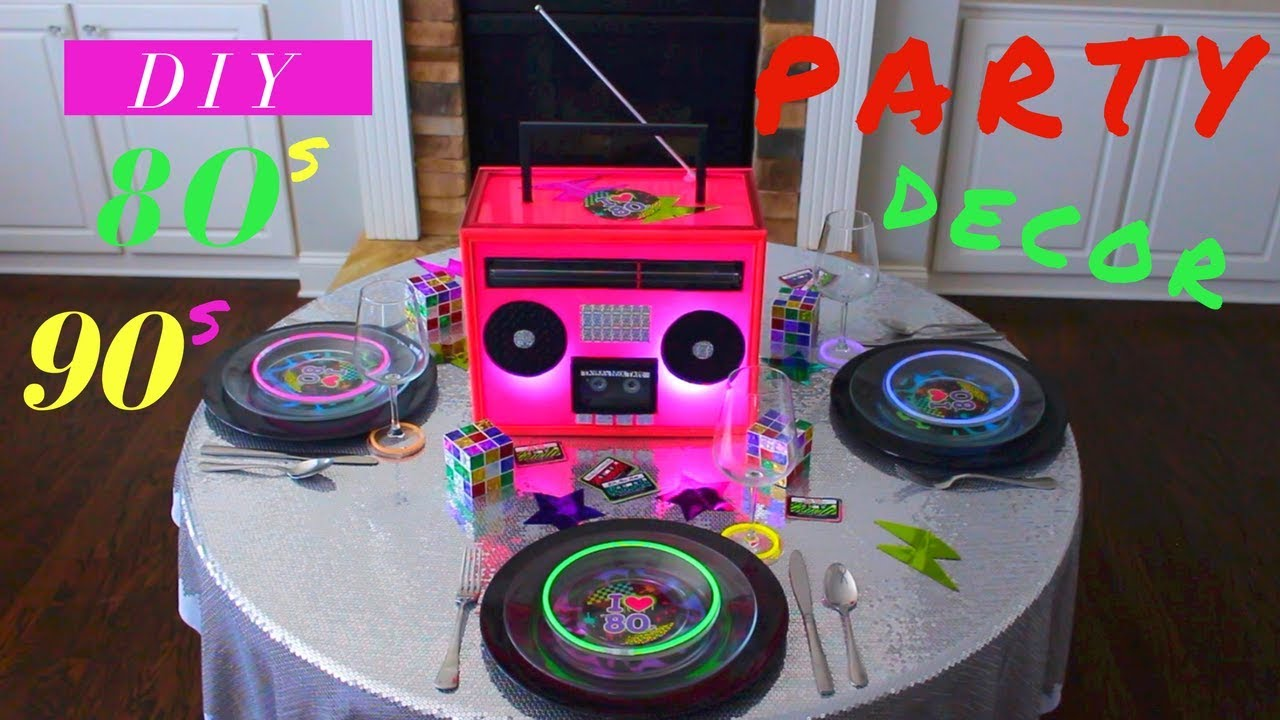 Best Diy 80S Or 90S Party Decoration Ideas Glow In The Dark This Month