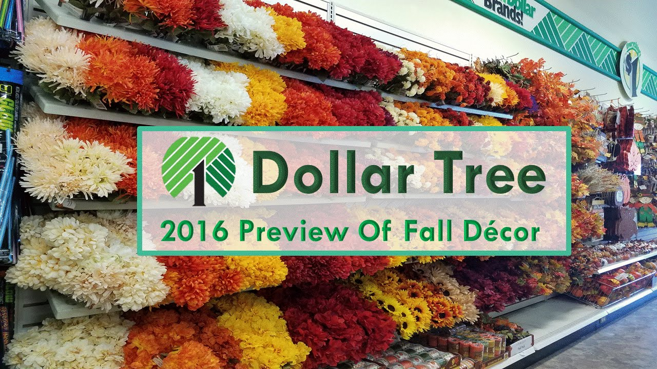 Best Dollar Tree 2016 Preview Of Fall Decorations Youtube This Month