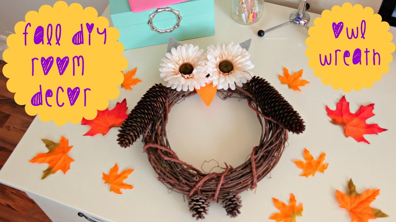 Best Diy Fall Room Decor Owl Wreath Youtube This Month