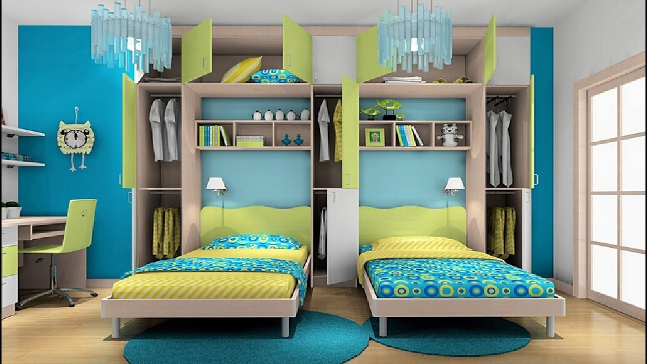 Best Awesome Twin Bedroom Design Ideas With Double Bed For Boys This Month