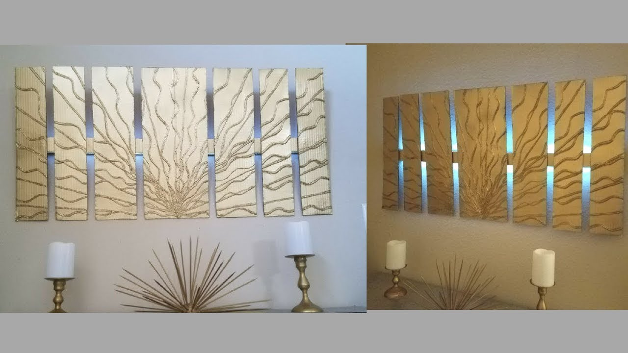 Best Diy Wall Decor With In Built Lighting Using Cardboards This Month