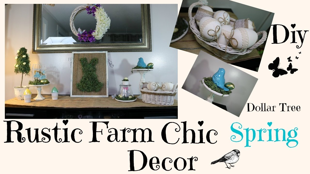 Best Diy Rustic Chic Spring Dollar Tree Home Decor Youtube This Month