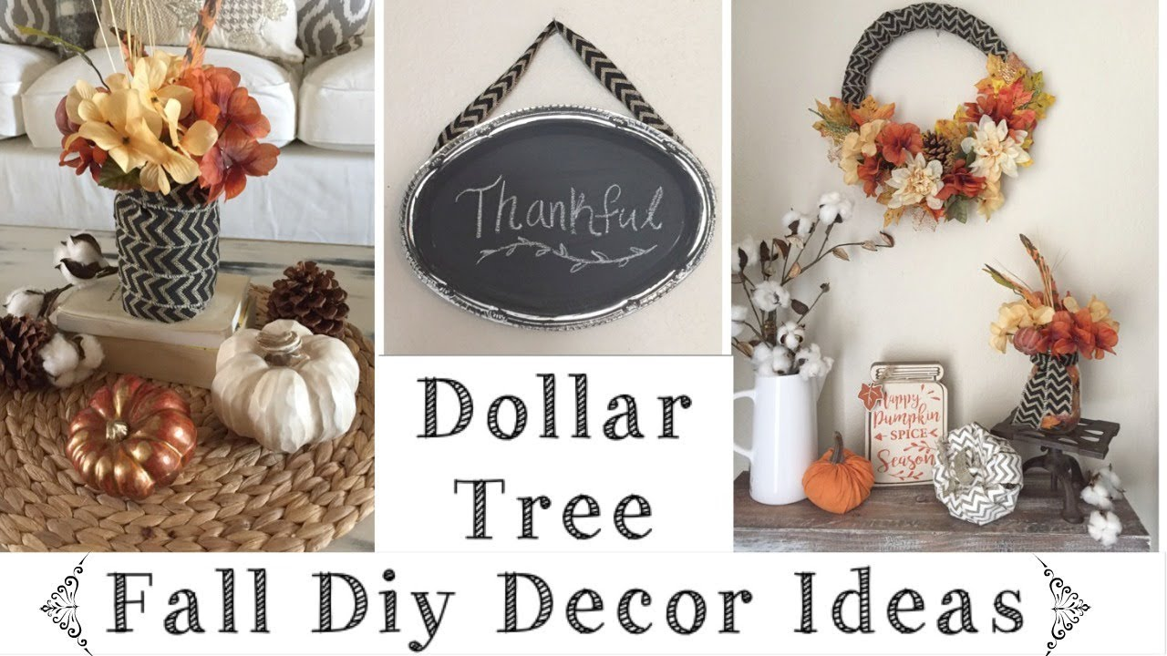 Best Dollar Tree Diy Rustic Fall Decor Ideas Youtube This Month