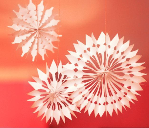 Best Diy Paper Snowflake Decorations Allfreechristmascrafts Com This Month