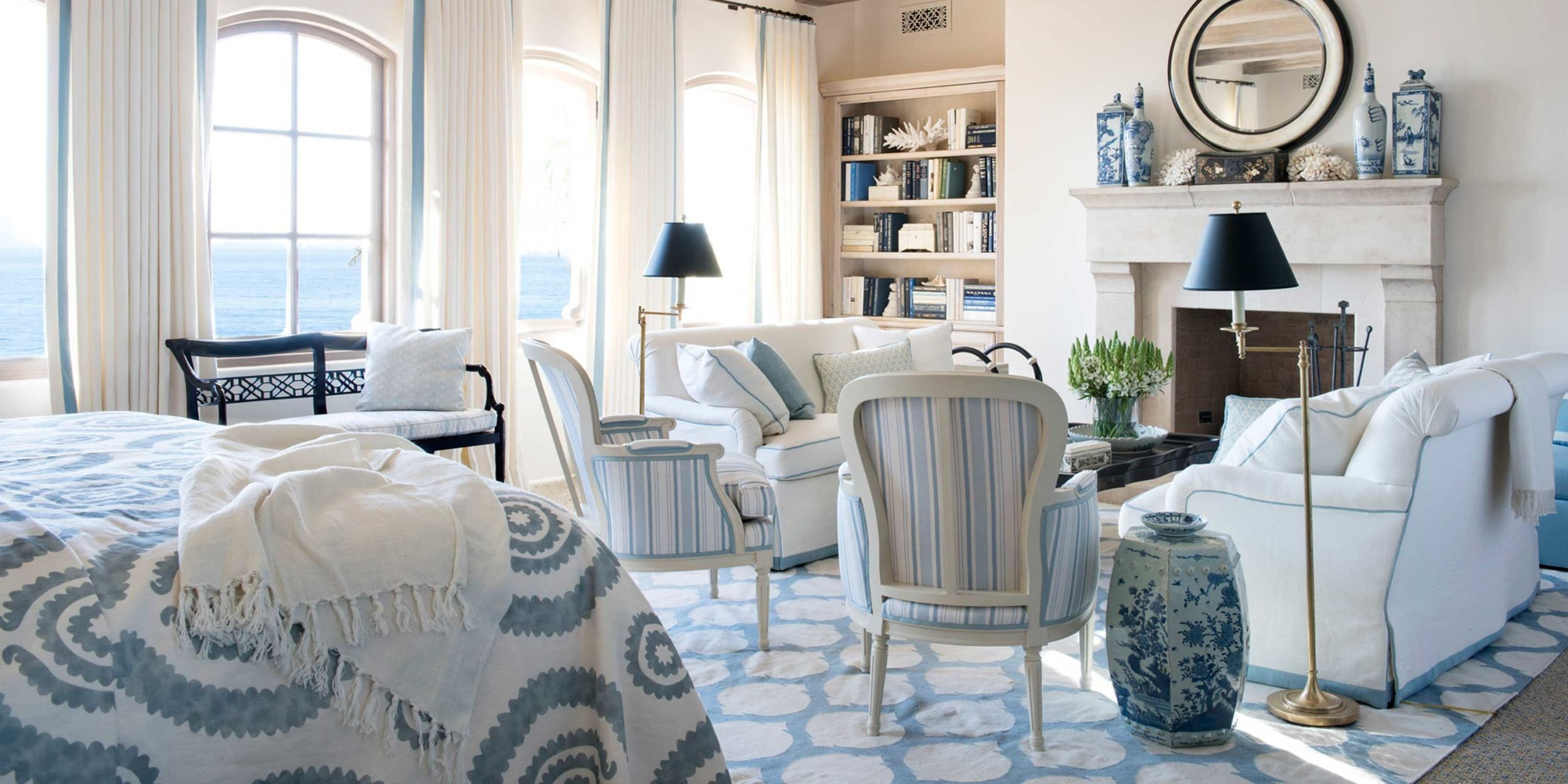 Best Blue And White Rooms Decorating With Blue And White This Month