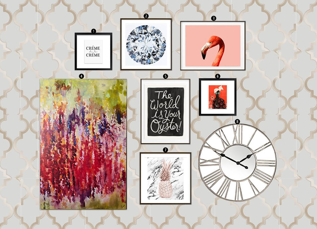 Best How To Create A Modern Glam Gallery Wall • Little Gold Pixel This Month