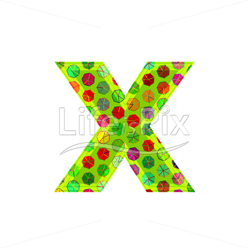 Best 3D Letter With Decorative Texture X Royalty Free Stock This Month