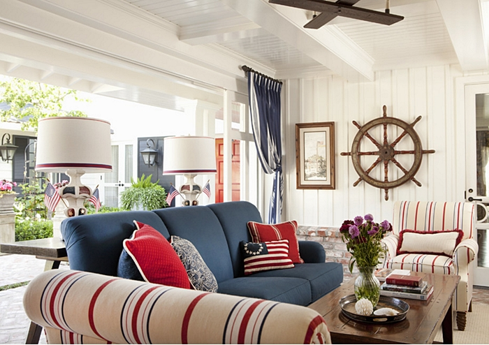 Best Decorating With Red White And Blue Town Country Living This Month