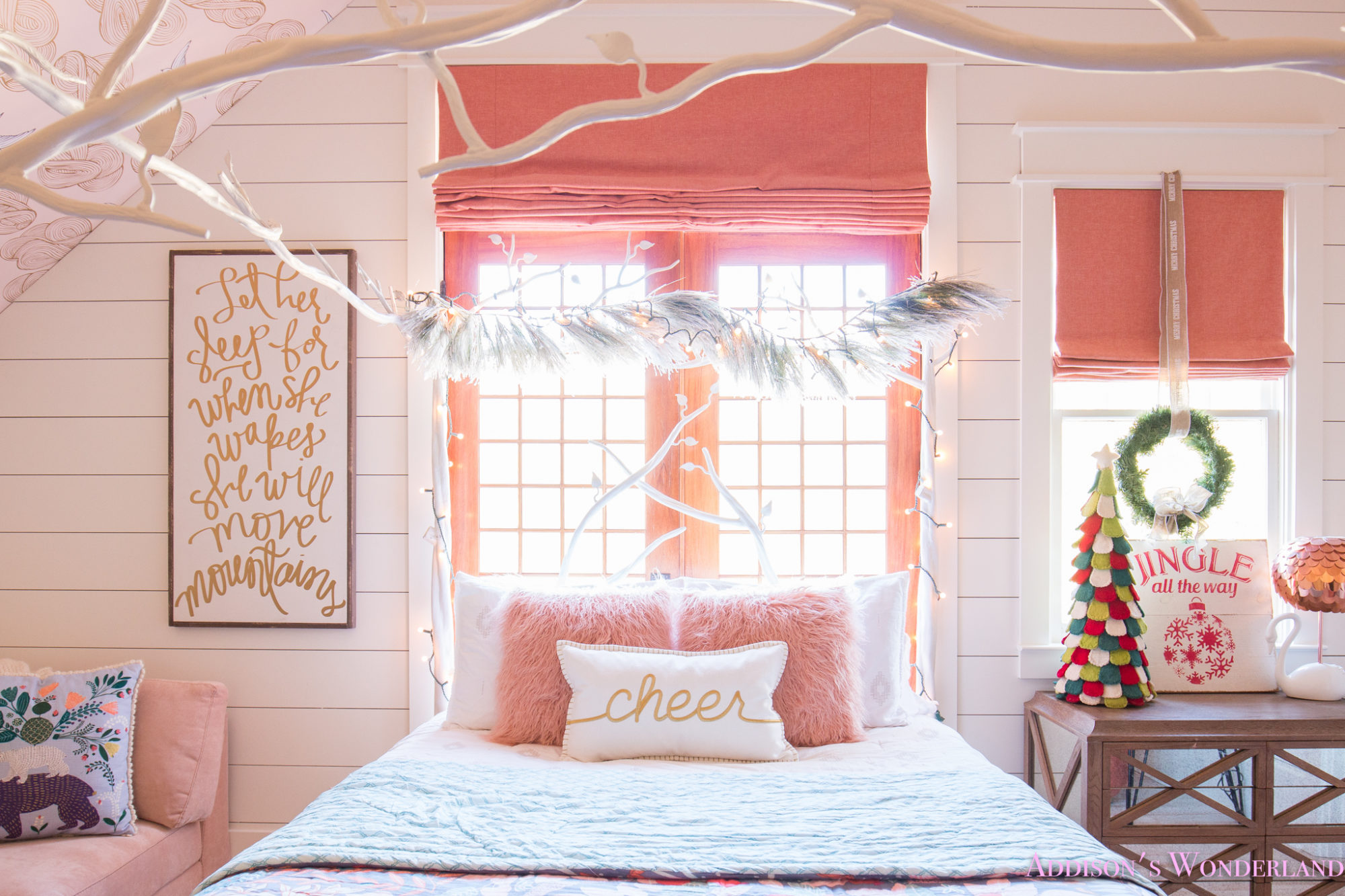 Best A Little Christmas Decor In Addison S Coral Girl S Bedroom With Shaw Floors This Month