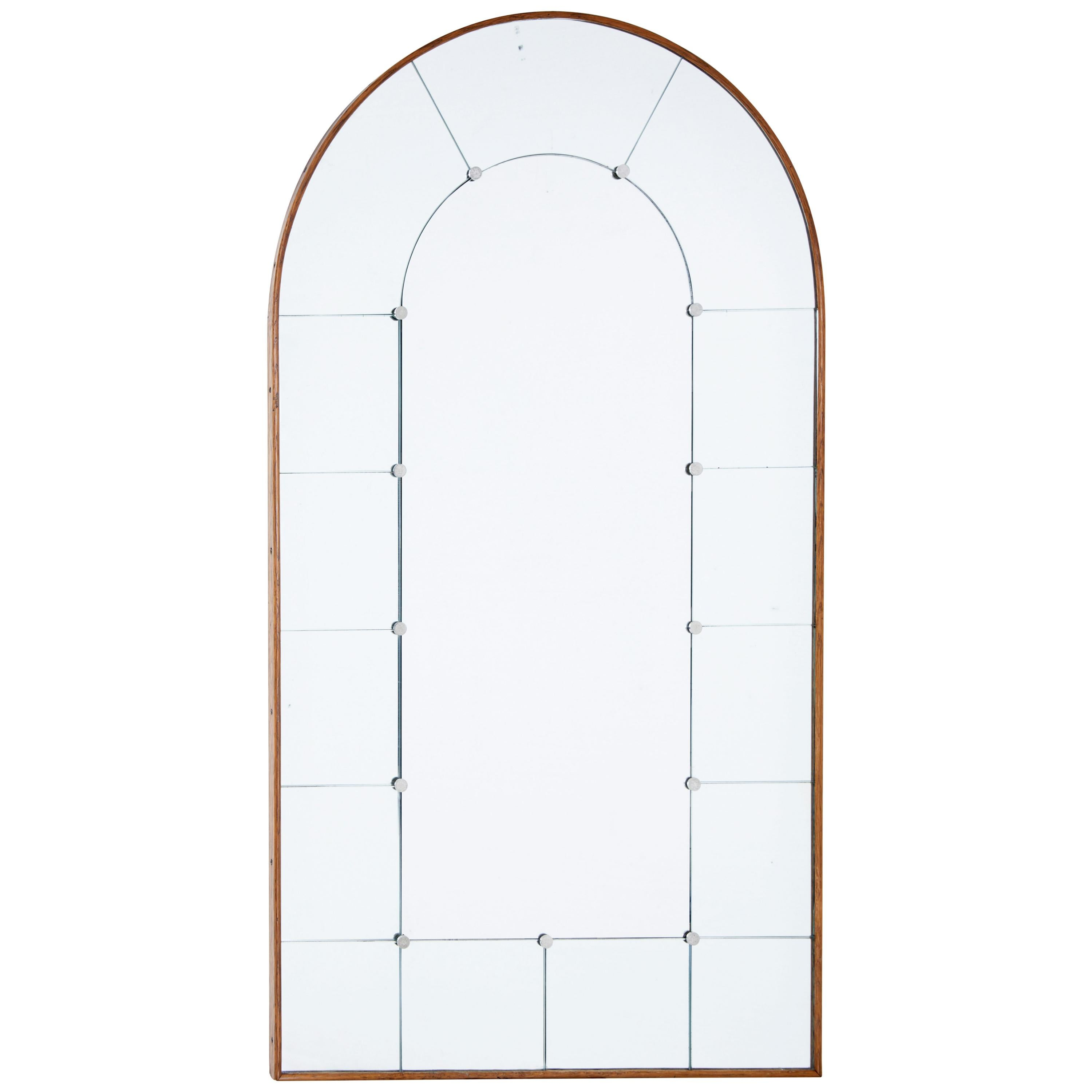 Best Art Deco Inspired Oak Arch Shaped Wall Mirror At 1Stdibs This Month