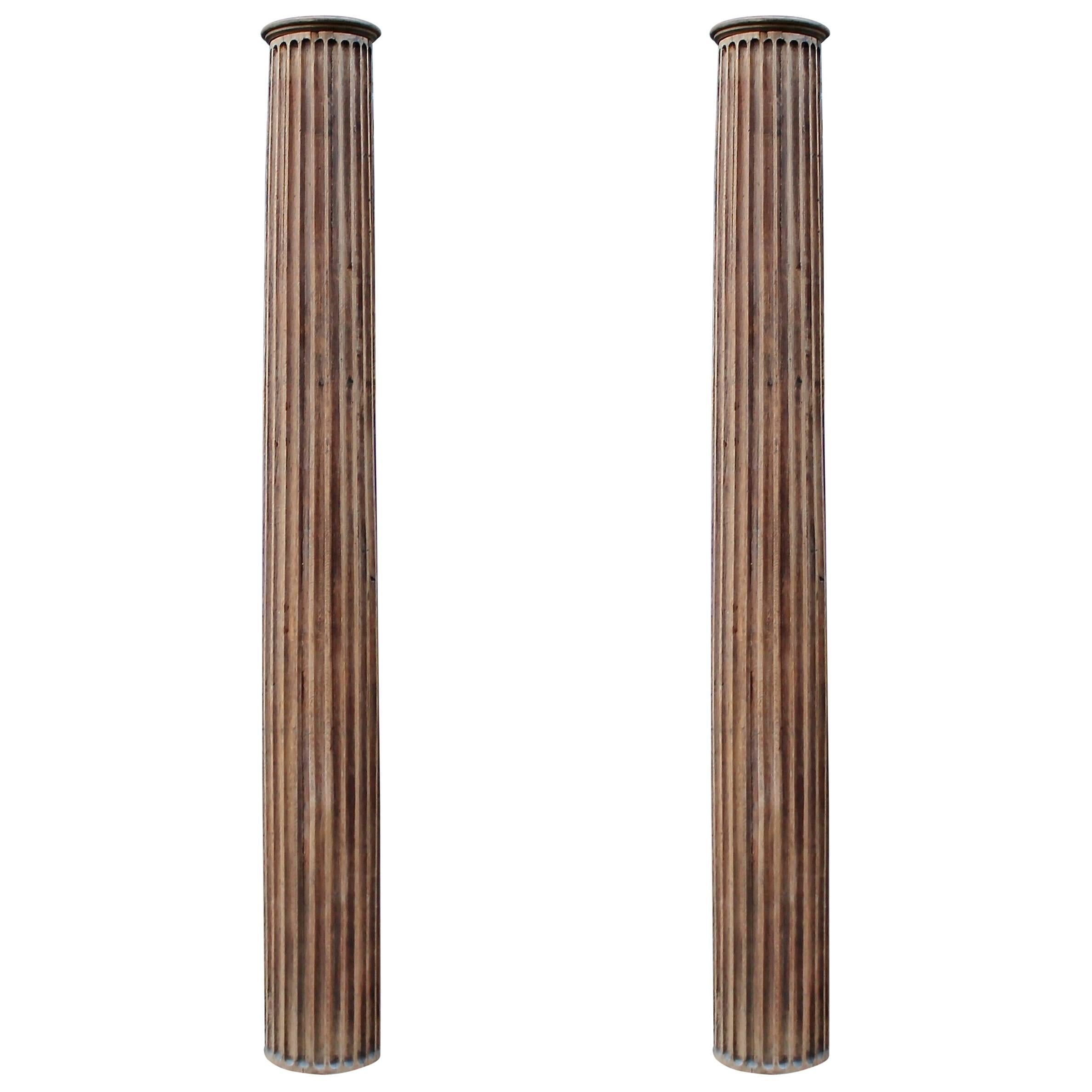 Best Pair Of 19Th C Decorative Wooden Columns At 1Stdibs This Month