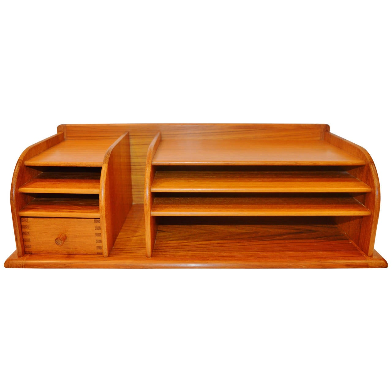 Best Danish Modern Solid Teak Desk Organizer By Kai Kristiansen This Month