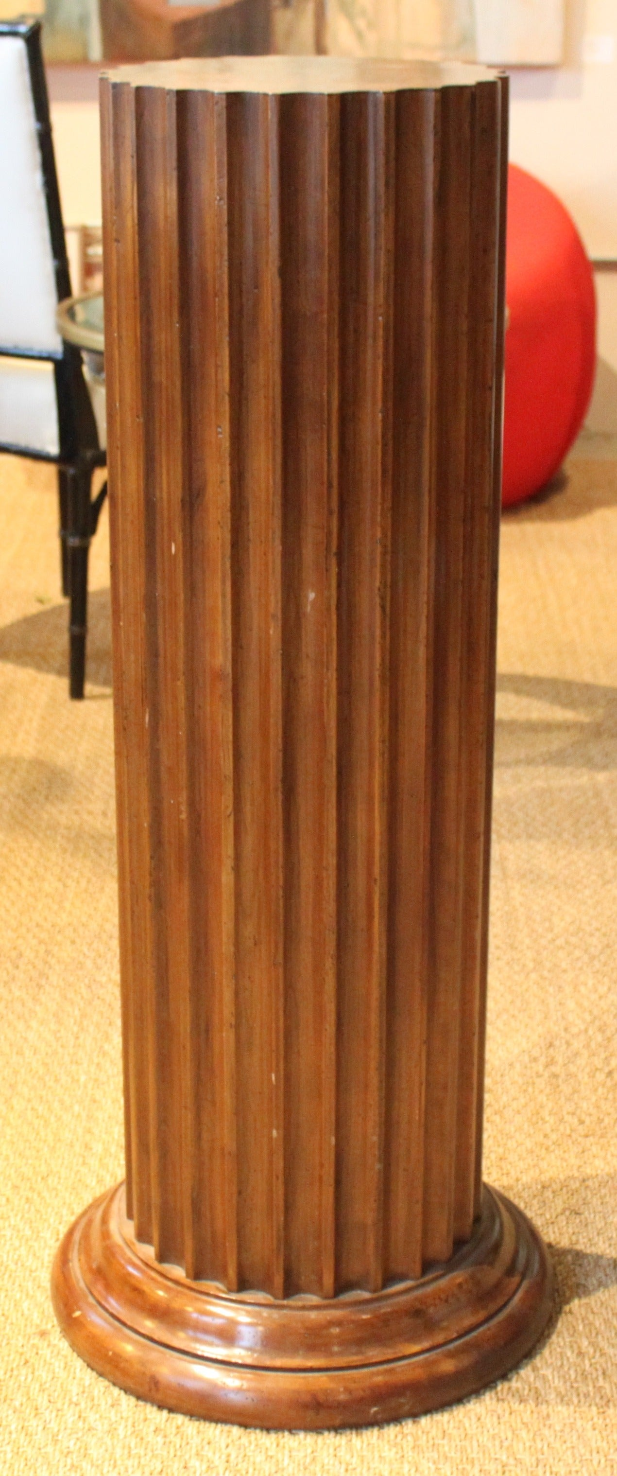 Best Fluted Wood Pedestal By John Widdicomb At 1Stdibs This Month