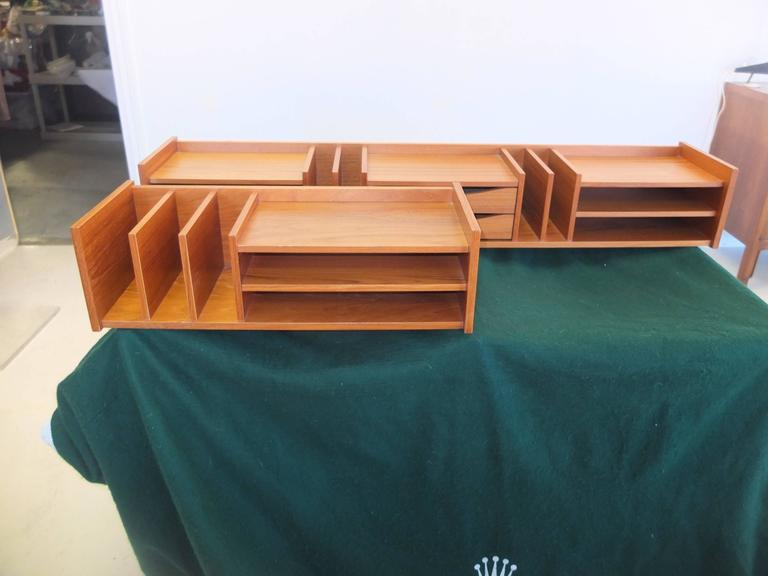 Best Danish Modern Teak Desk Organizer By Georg Petersen This Month