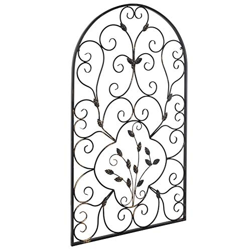 Best Amazon Com Dalilylime Leaf Shape Metal Hanging Art Wall This Month