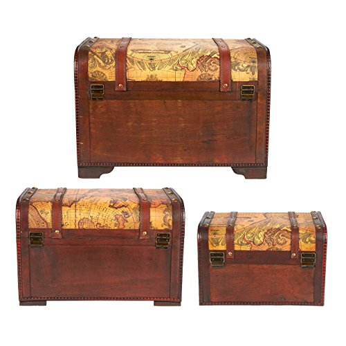 Best Decorative Boxes Wooden Chest Trunk 3 Piece Storage And This Month