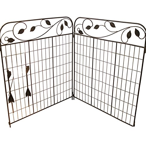 Best Amagabeli Decorative Garden Fence 44In X 6Ft Coated Metal This Month