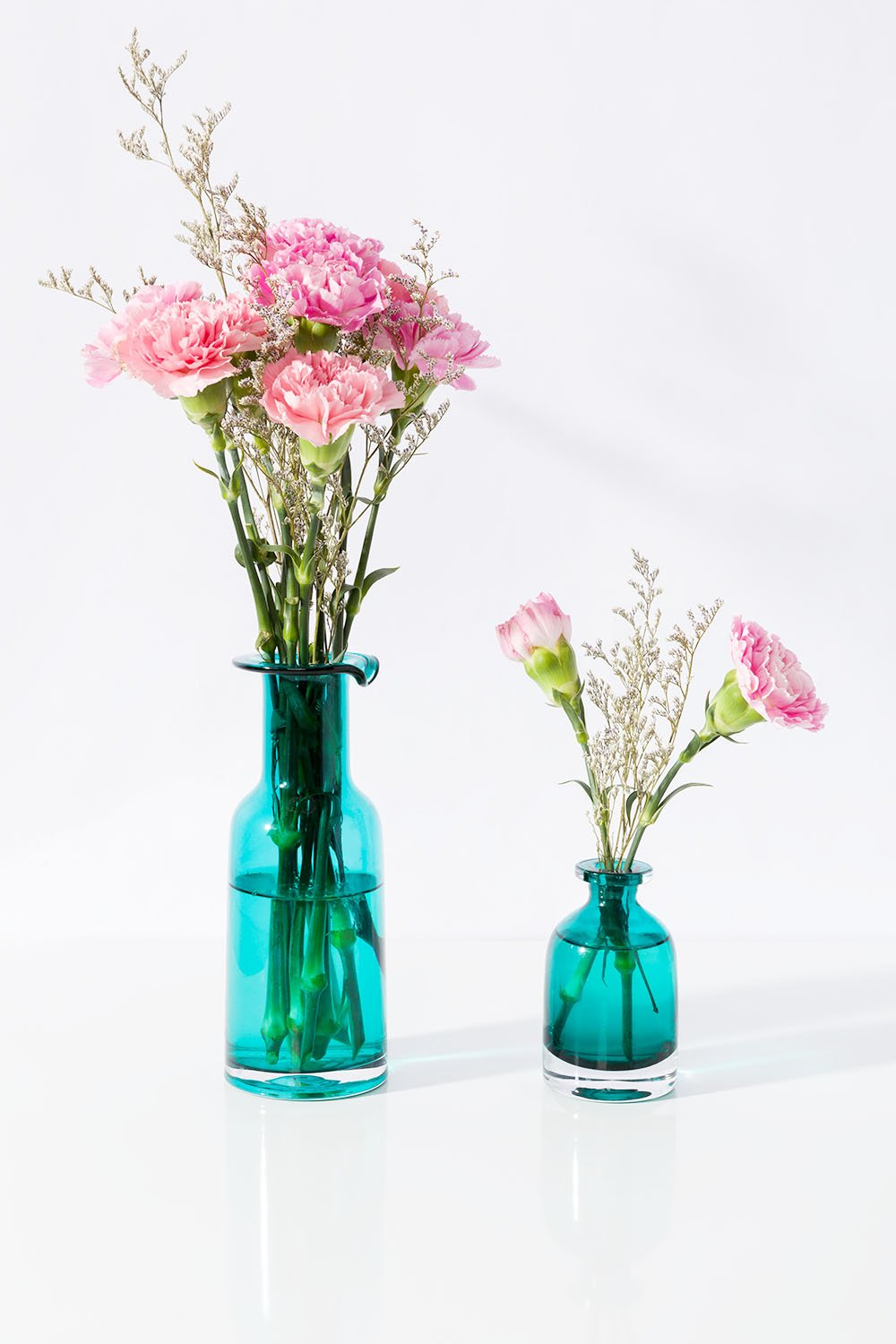 Best Mkono Blue Flower Vase Decorative Art Glass Home Decor Set This Month