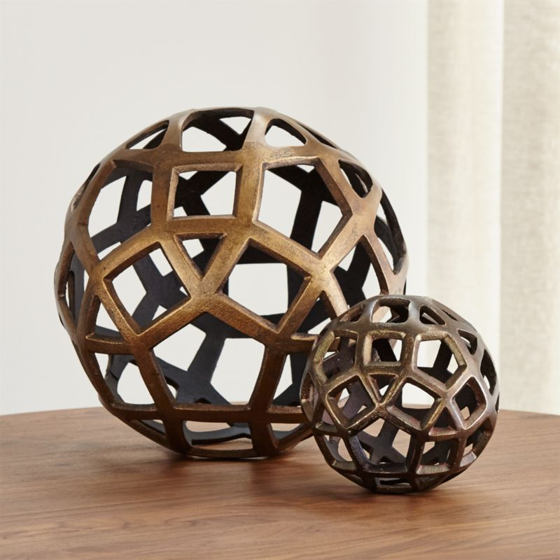 Best Geo Decorative Metal B*Lls Crate And Barrel This Month