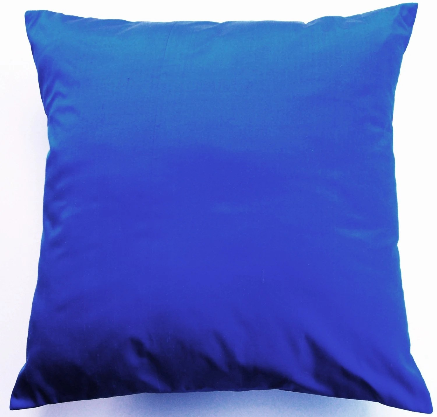 Best Cobalt Blue Throw Pillow Simply Silk Cushion Cover 16 X 16 This Month