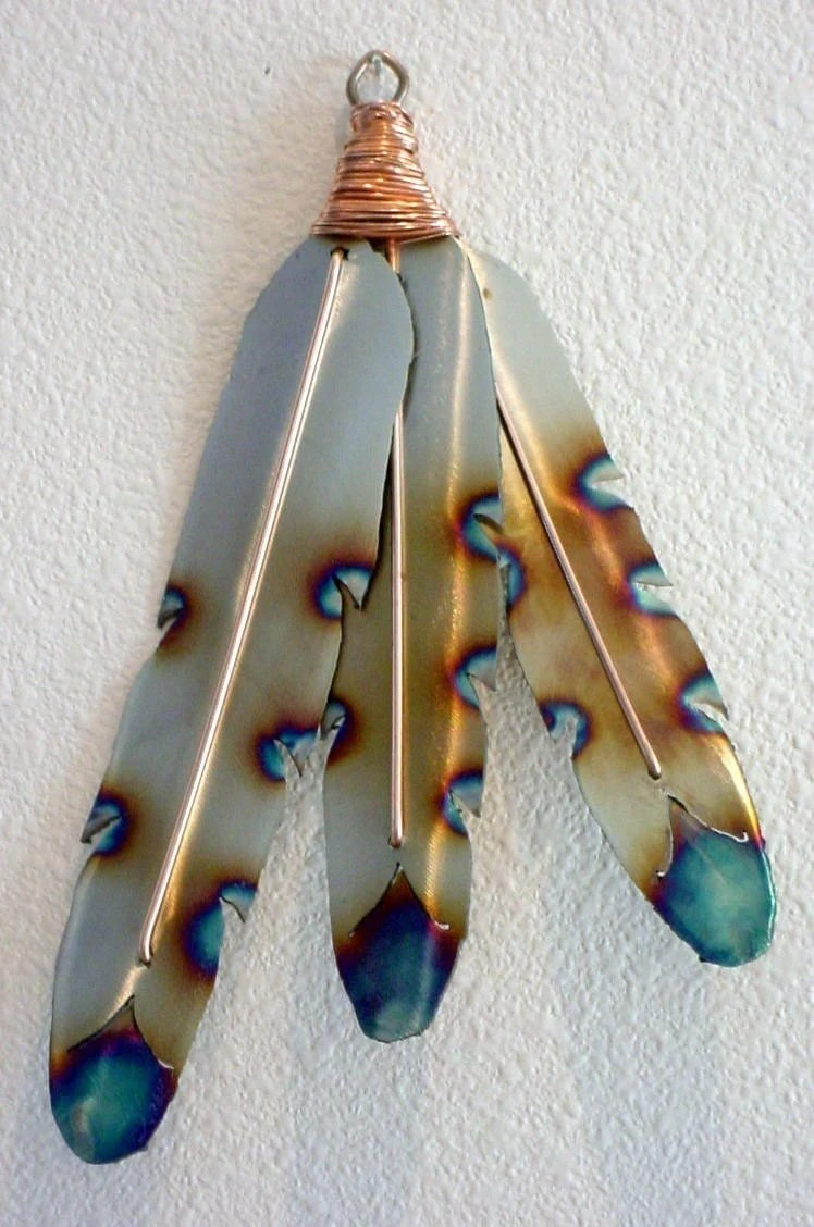 Best Native American Indian Style Metal Feathers Steel Wall Art This Month