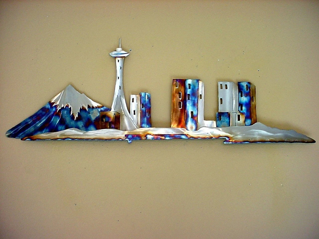 Best Seattle Space Needle Stainless Steel Metal Wall Art Downtown This Month