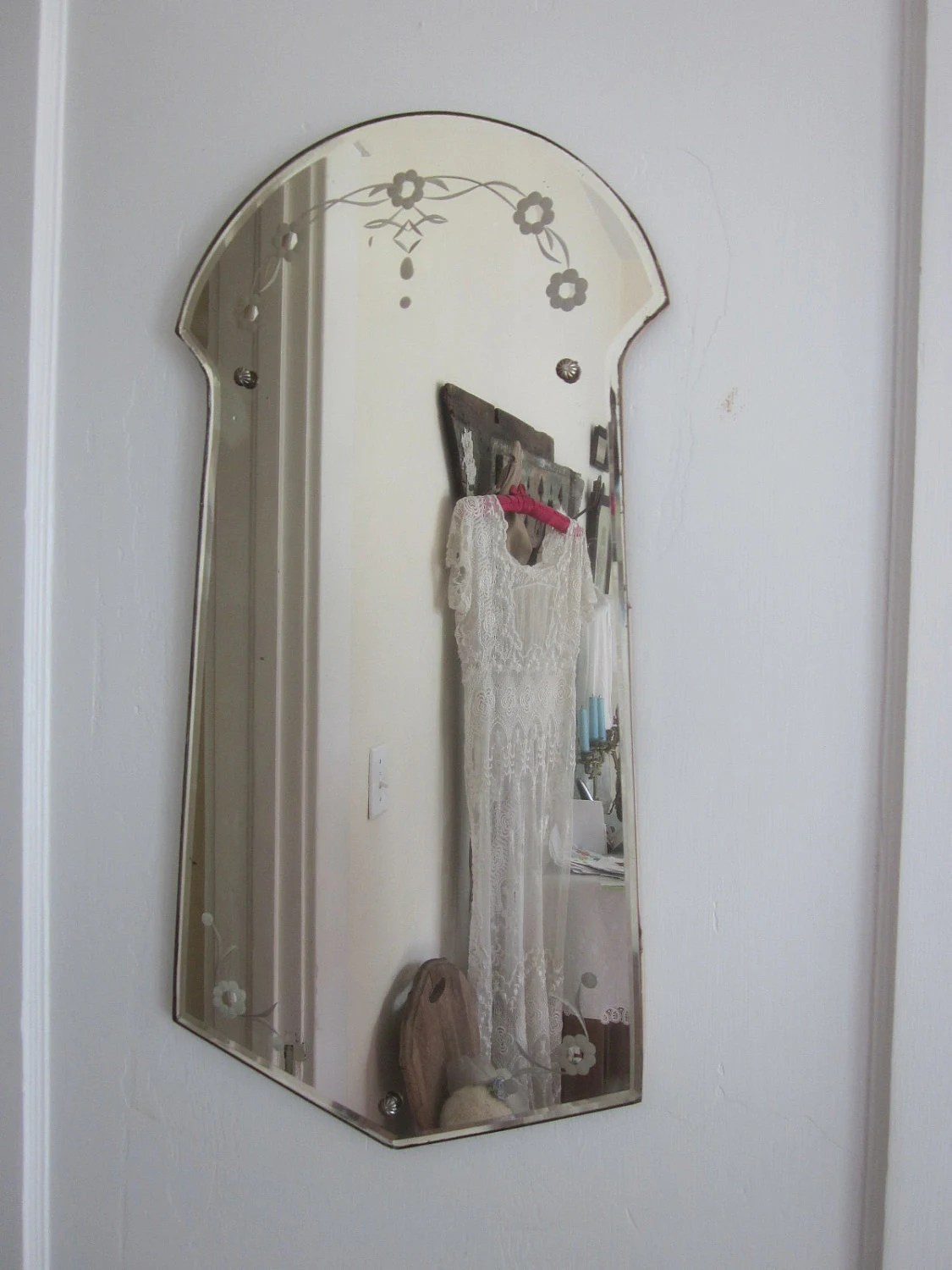 Best Art Deco Arched And Chevron Shaped Wall Mirror This Month
