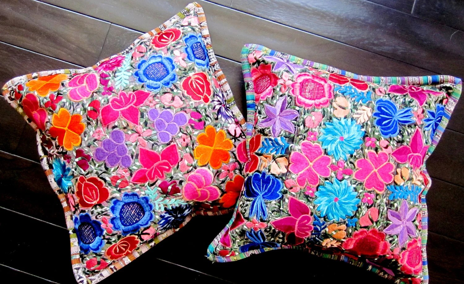 Best Embroidered Ethnic Throw Pillows Floral Throw Pillow Covers This Month