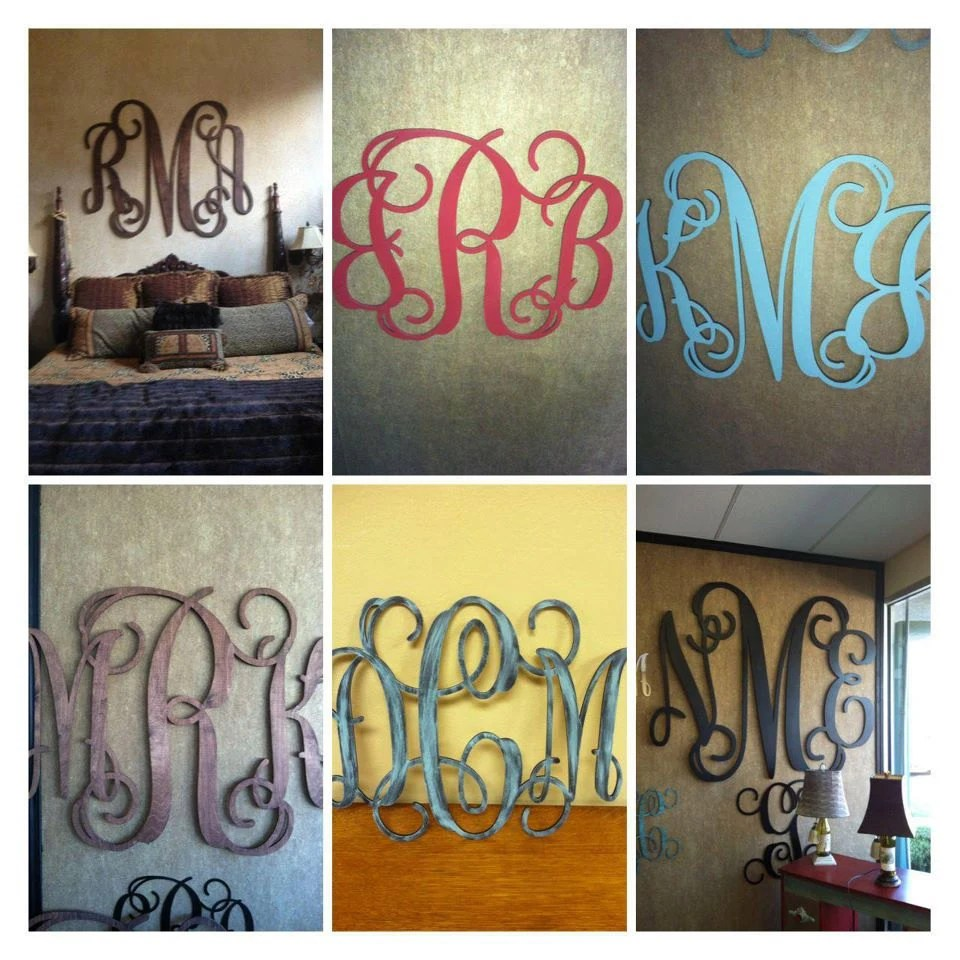 Best Wood Monogram Wall Decor 16X20 By Monomadness On Etsy This Month