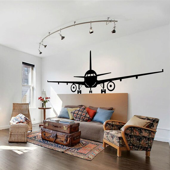 Best Airplane Wall Decal Jumbo Jet Vinyl Sticker Home Arts Wall This Month