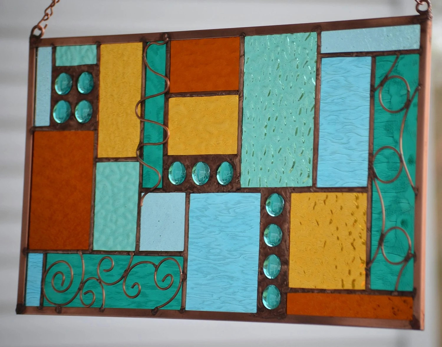 Best Stained Glass Hanging Window Panel With Decorative Twisted This Month