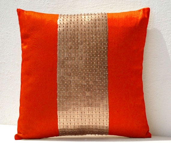 Best Decorative Throw Pillows Cover Orange Gold Pillow Color This Month