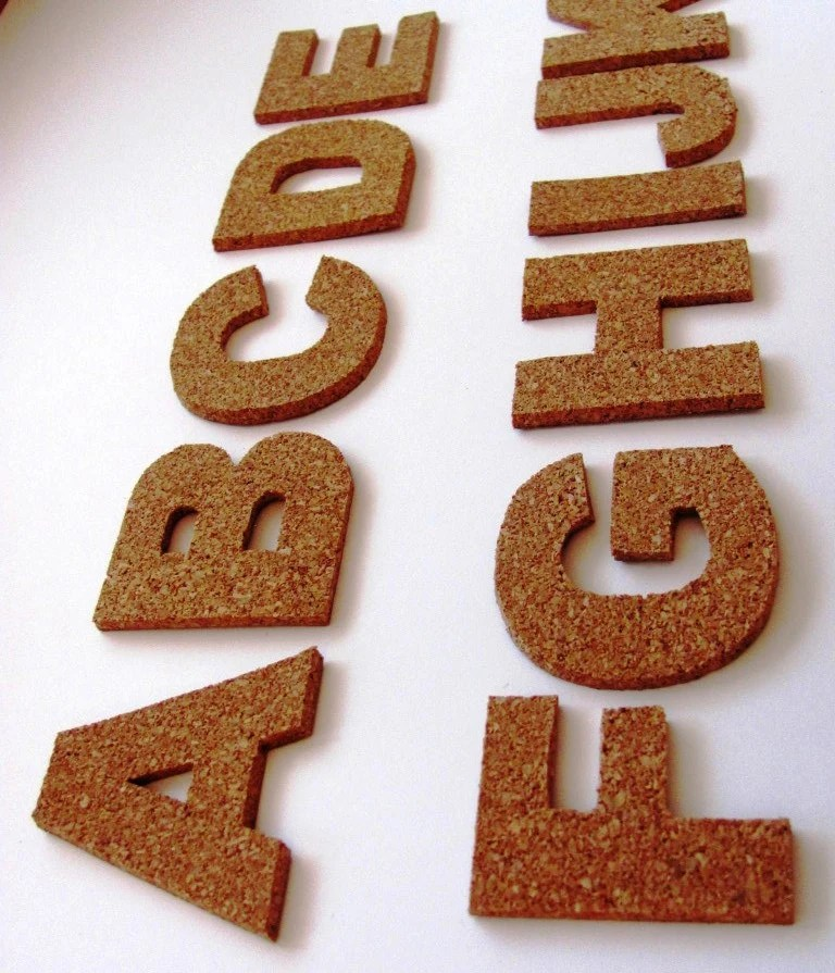 Best 3D Cork Self Adhesive Letters Wall Decor Cork Alphabet This Month