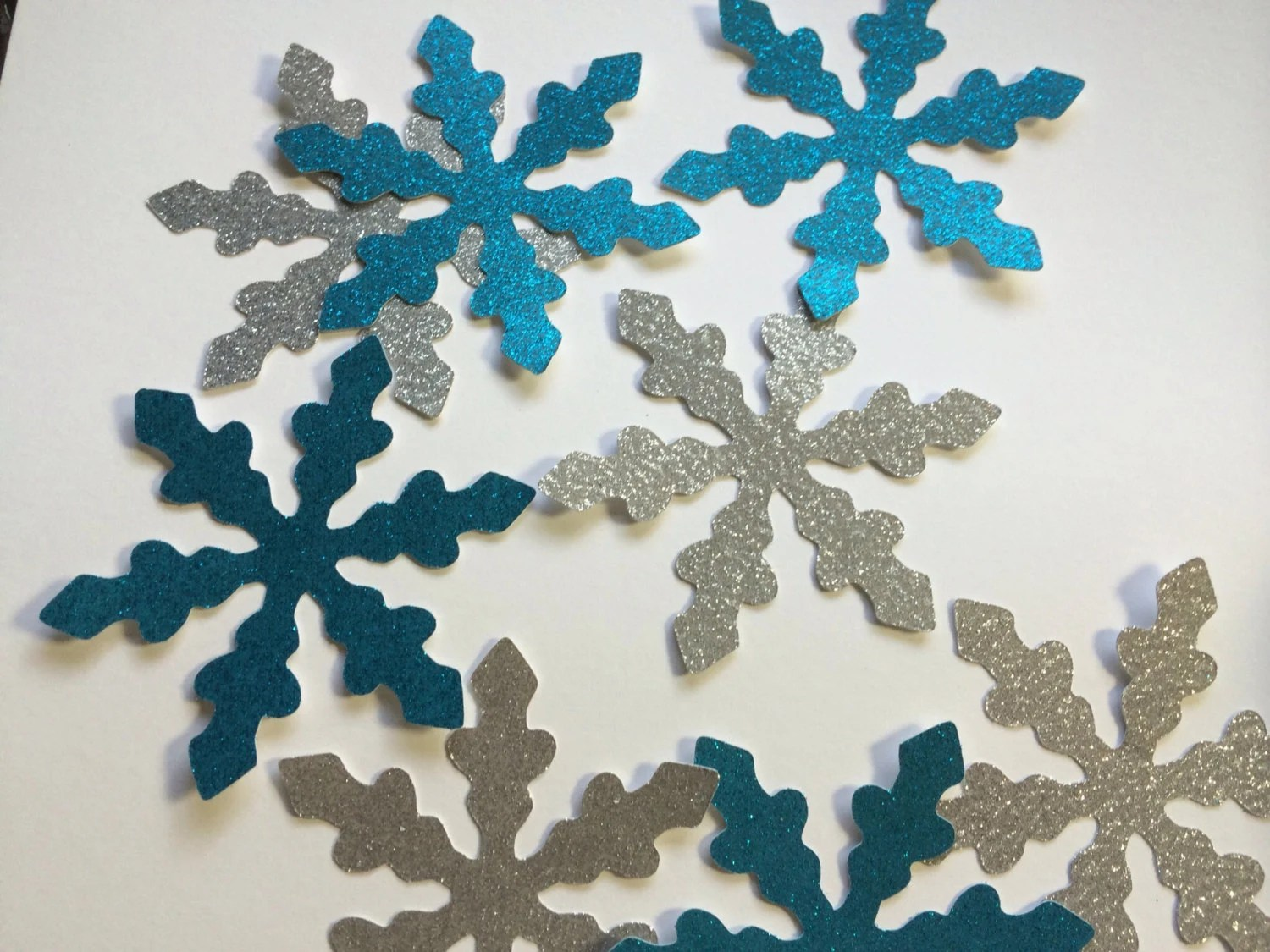 Best 8 4 Inch Blue Silver Snowflakes Large Snowflake Decoration This Month