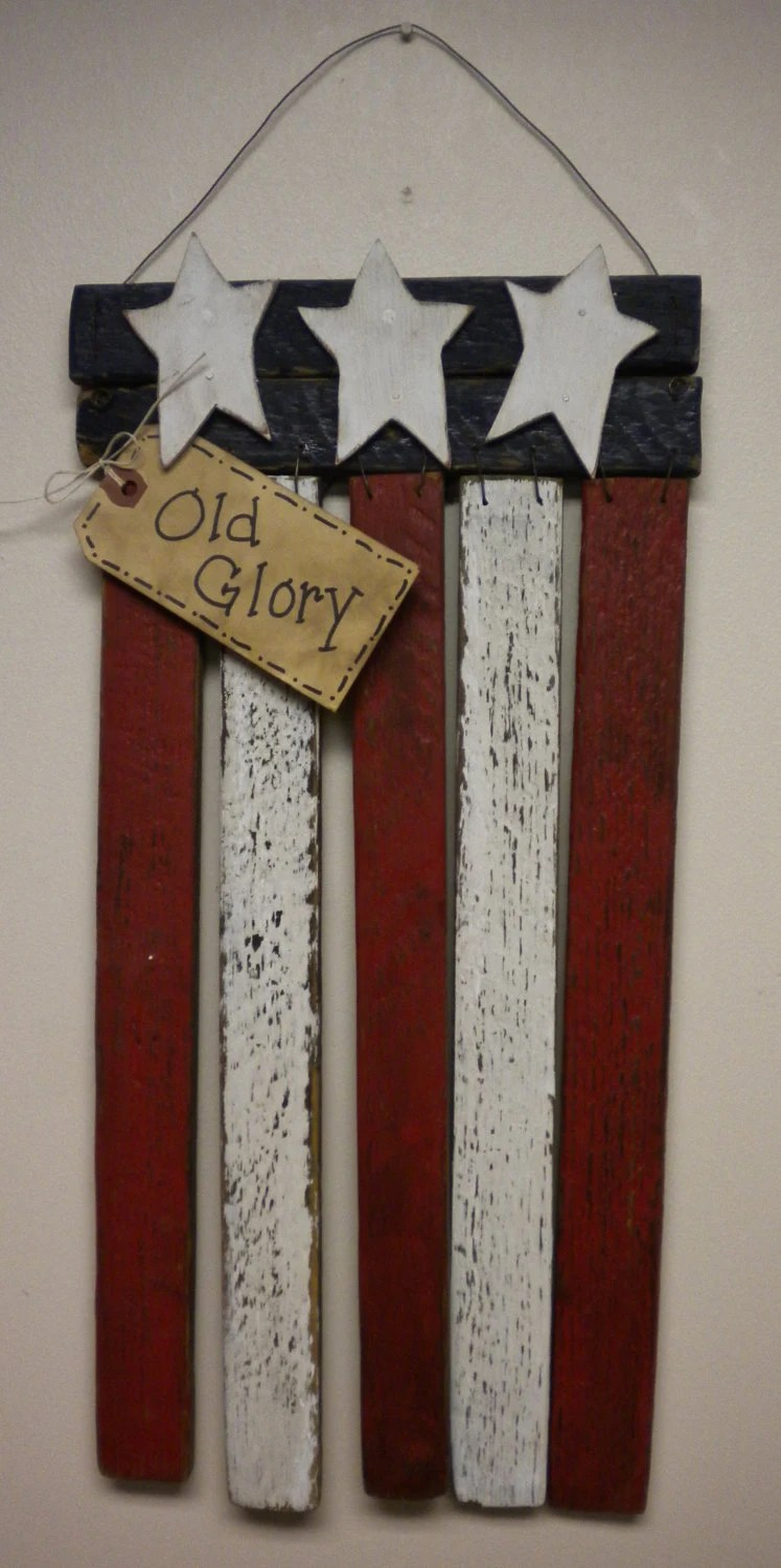 Best Lath Flag American Flag Patriotic Decoration Wood Flag Red This Month