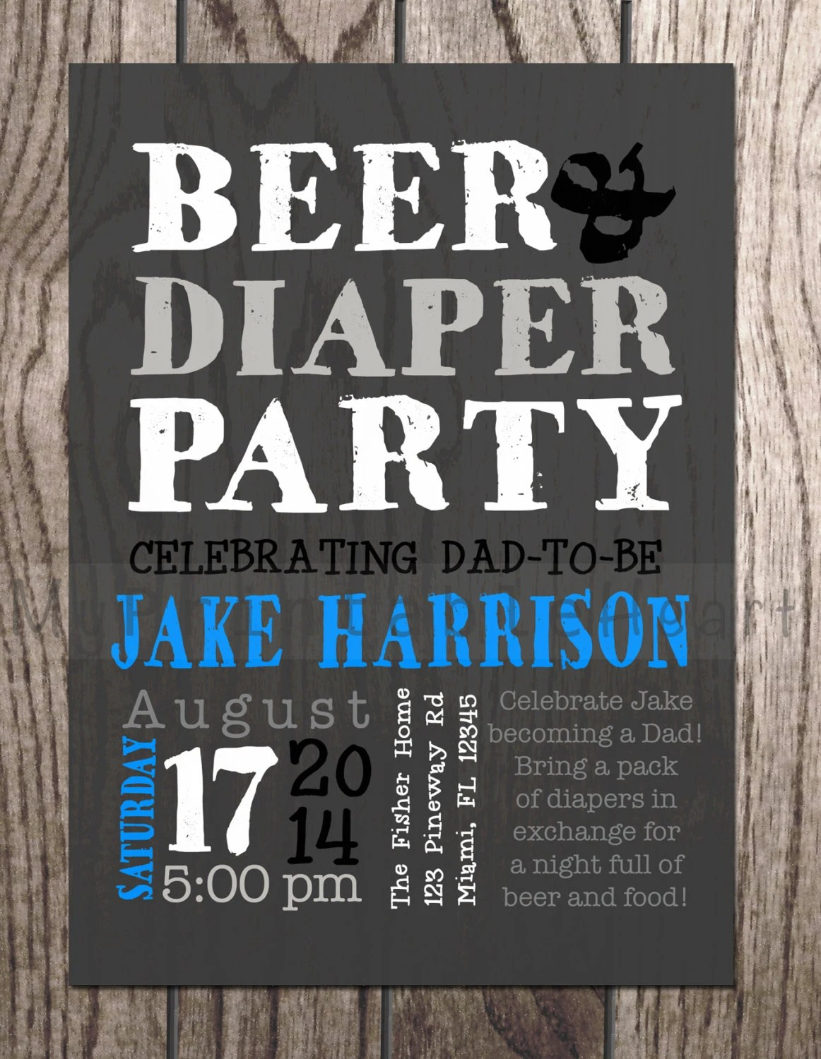 Best Beer And Diaper Party Baby Shower Invitation For Dads This Month