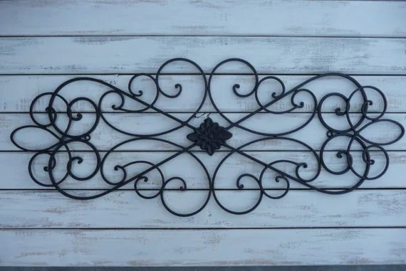 Best Wrought Iron Wall Decor Bedroom Bed Headboard Black Wall This Month