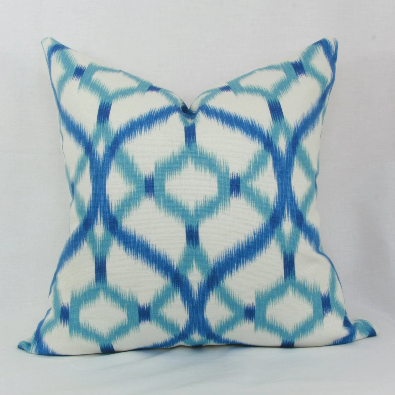 Best Blue Aqua Ikat Decorative Throw Pillow Cover 18X18 20X20 This Month