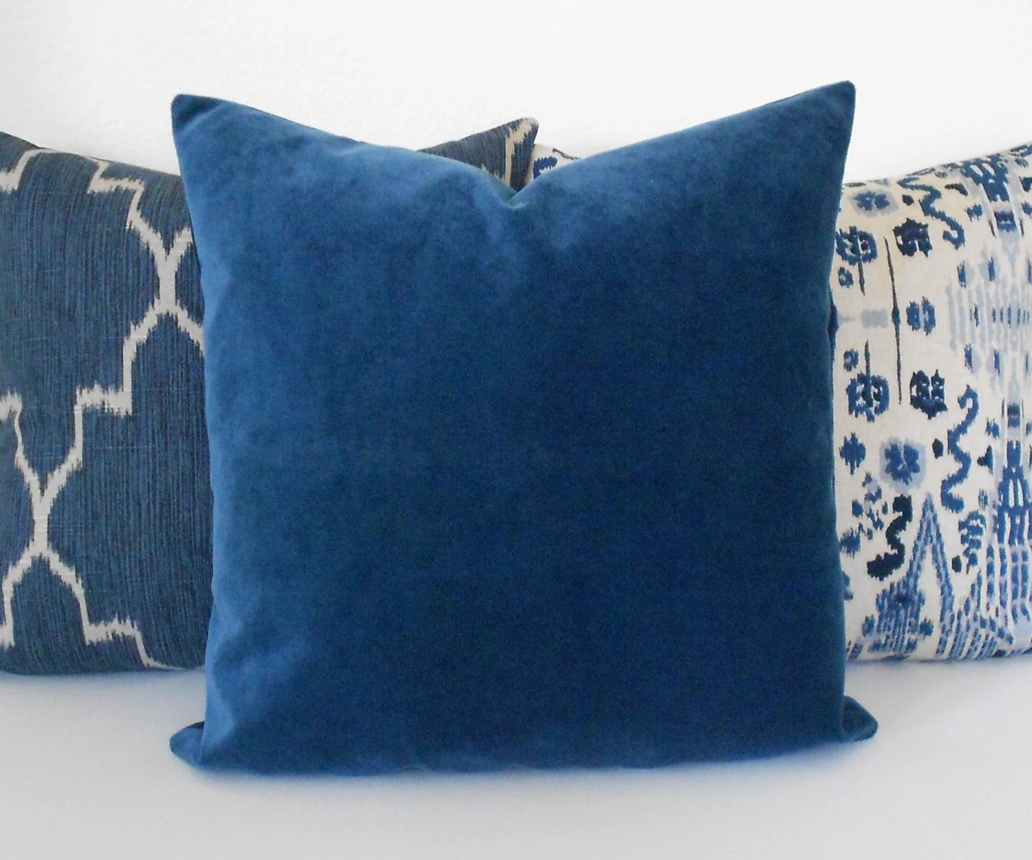 Best Indigo Blue Velvet Decorative Pillow Cover Accent Pillow This Month