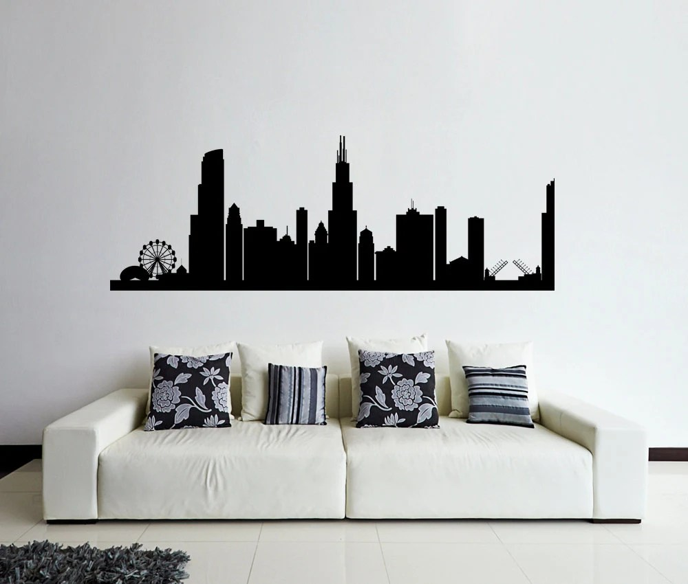 Best Chicago Wall Decal Chicago Skyline Decal Cities By This Month