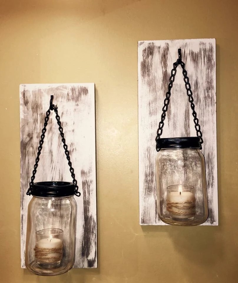 Best Hillbilly Mason Jar Sconces Rustic Wall Sconces Shabby Chic This Month