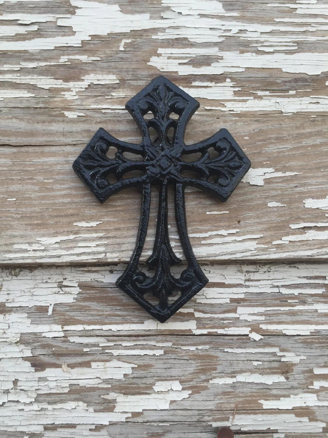 Best Small Black Cast Iron Wall Decor Cross By Farmgirlsvintage This Month